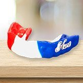 Red white and blue mouthguard